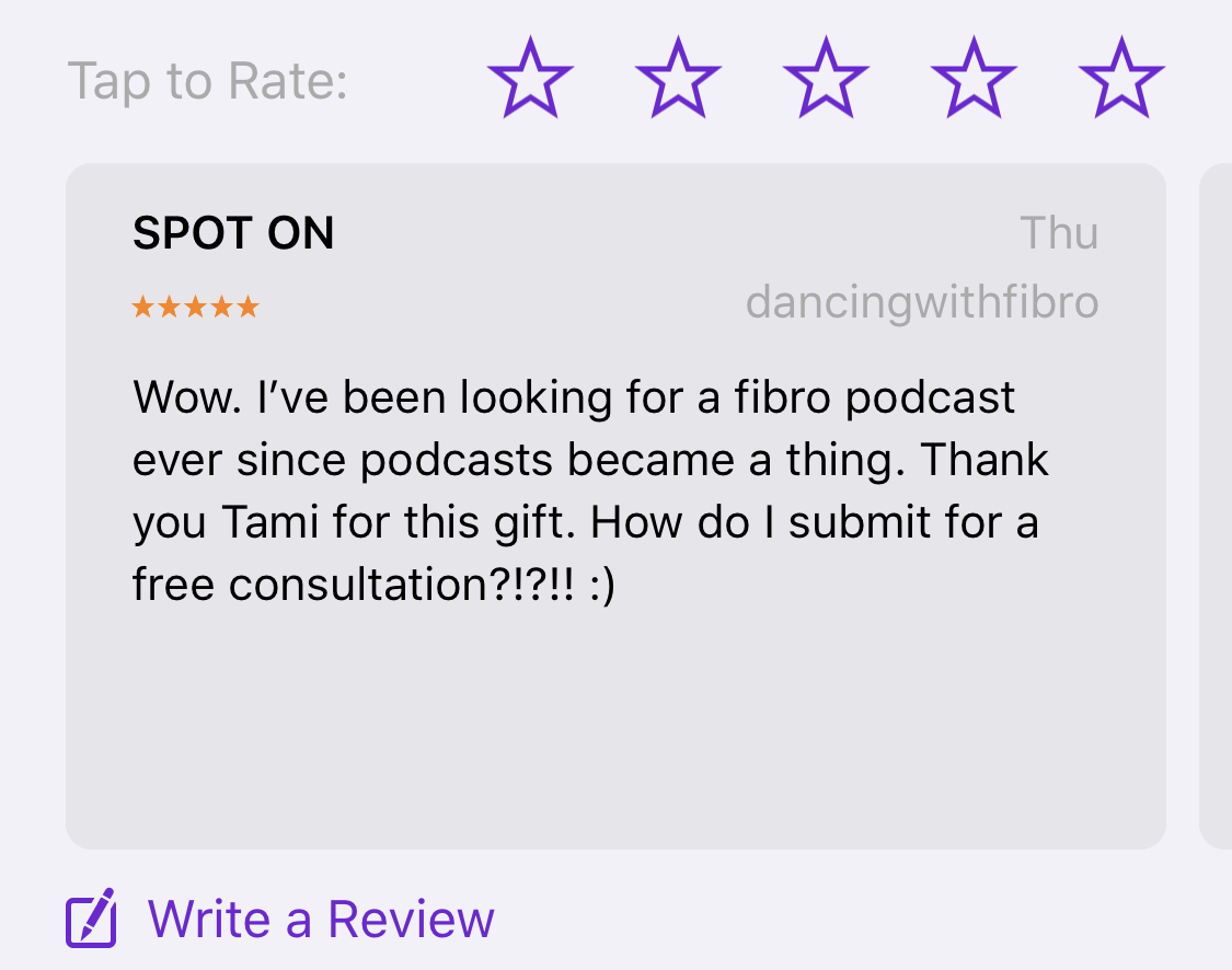 dancingwithfibro Podcast Review